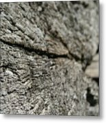 Log Rock Metal Print