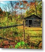 Log Structure For Meat Storage Metal Print