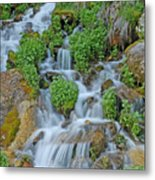 Logan Canyon Cascade Metal Print