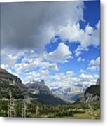 Logan Pass Panorama - Glacier National Park Metal Print