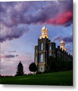 Logan Temple Heaven's Light Metal Print