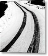 Logging Road In Winter Metal Print by Mark Duffy