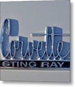 Logo Of 1966 Chevrolet Corvette Sting Ray 427 Turbo-jet Metal Print