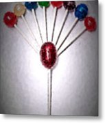 Lollipop Balloons  Metal Print