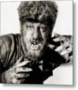 Lon Chaney, Jr. As Wolfman Metal Print