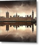 London - The Houses Of Parliament  Metal Print