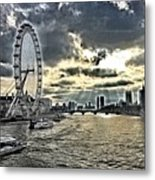 London A View From A Bridge  Metal Print