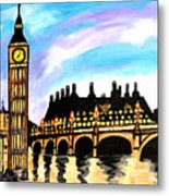 London After Eight Metal Print