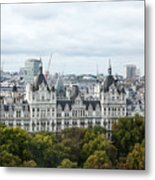 London Along The River Thames Metal Print