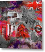 London Art 56 Metal Print