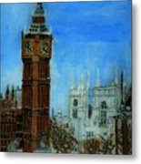 London Big Ben Clock  Metal Print