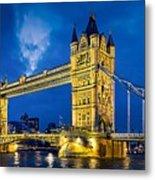 London Bridge Panorama Metal Print