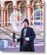 London Bubbles 4 Metal Print