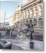 London Bubbles 8 Metal Print