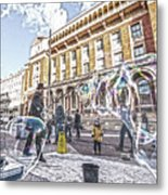 London Bubbles B Metal Print