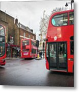London Buses Metal Print
