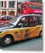 London Busy Street Metal Print