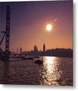London By Night By Day Metal Print
