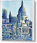 London City St Paul's Cathedral Metal Print