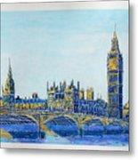 London City Westminster Metal Print