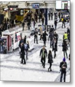 London Commuter Art Metal Print