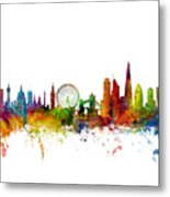 London England Skyline 16x20 Ratio Metal Print