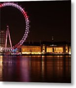 London Eye At Night Metal Print