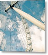 London Eye Ferris Wheel Metal Print by Andy Smy