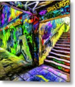 London Graffiti Van Gogh Metal Print