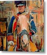 London Guard On Horse Metal Print