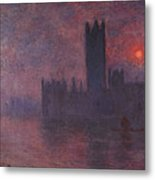 London Houses Of Parliament At Sunset  Metal Print