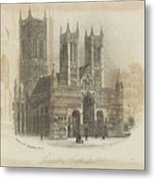 London Lincoln Cathedral. Metal Print