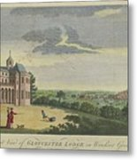 London Magazine, London South East View Of Gloucester Lodge In Windsor Great Park Published Aug 1780 Metal Print