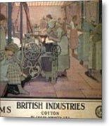 London Midland And Scottish Railway, British Industries - Retro Travel Poster - Vintage Poster Metal Print