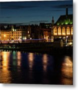 London Night Magic - Colorful Reflections On The Thames River Metal Print