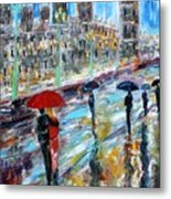 London Rainy Evening Metal Print