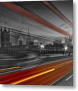 London Red Bus Metal Print by Melanie Viola