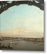 London Seen Through An Arch Of Westminster Bridge Metal Print