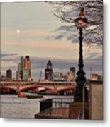 London Skyline From The South Bank Metal Print