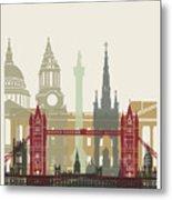 London Skyline Poster Metal Print