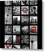 London Squares Metal Print