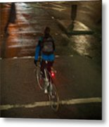 London Streets In Cold Whether . Metal Print