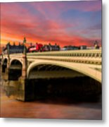 London Sunset Metal Print