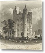 London Tattershall Castle, Lincolnshire. Published 1 Dec 1849 Metal Print