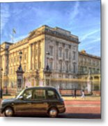 London Taxi And Buckingham Palace  Metal Print