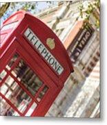 London Telephone 3 Metal Print