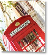 London Telephone 3 Metal Print
