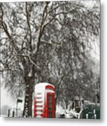 London Telephone Box Metal Print