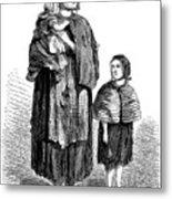London, Vagrants, 1861 Metal Print