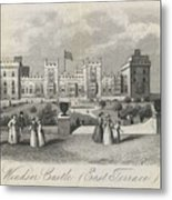 London Windsor Castle East Terrace, The Queen's Private Apartments Metal Print
